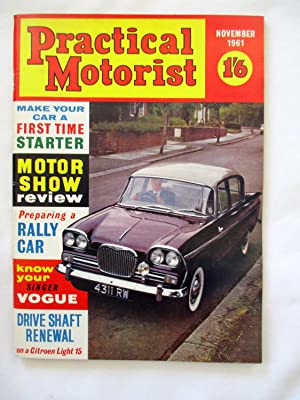 PRACTICAL MOTORIST Monthly Magazine. November 1961. (