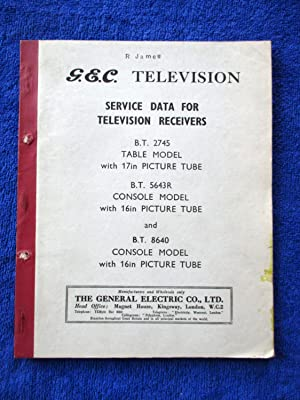 G.E.C. Television Service Data for Television Receivers.: GEC, General Electric