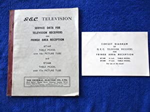 G.E.C. Television Service Data for Television Receivers: GEC, General Electric