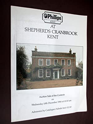 Auction Sale of the Contents of SHEPHERDS,: Phillips Auctioneers.