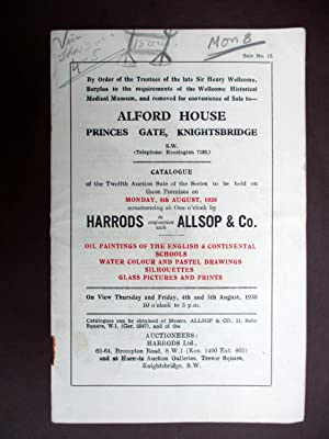 Alford House, Princes Gate, Knightsbridge. London, Catalogue: Harrods, Allsop &