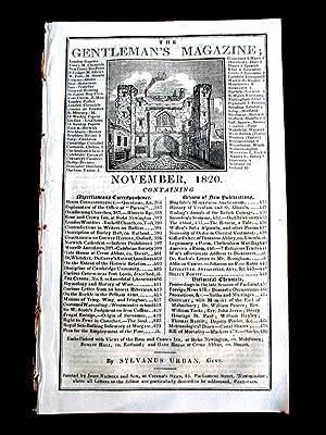 The Gentleman's Magazine for November 1820. (plates: Urban, Sylvanus.