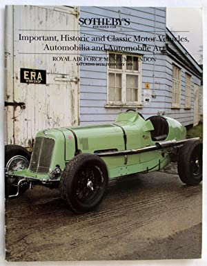 Important, Historic and Classic Motor Vehicles, Automobilia: Sotheby & Co.