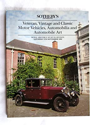 Veteran, Vintage and Classic Motor Vehicles, Automobilia: Sotheby & Co.