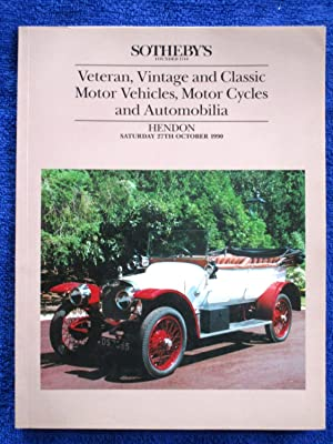 Veteran, Vintage and Classic Motor Vehicles, Motor: Sotheby & Co.