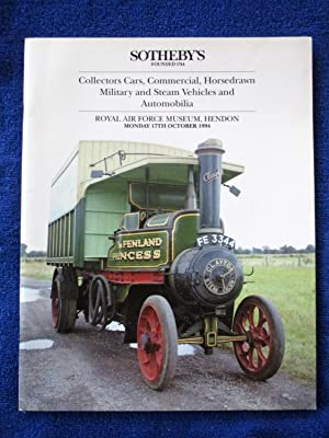 Collectors Cars, Commercial, Horsedrawn, Military and Steam: Sotheby & Co.