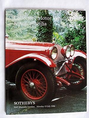 Collectors Motor Vehicles & Automobilia, 15 July: Sotheby & Co.