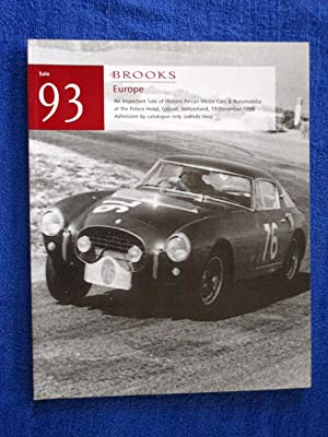 093. An Important Sale of Historic Ferrari: Brooks.