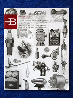 A Sale of Motoring Spares, Garage Equipement,: Brooks,