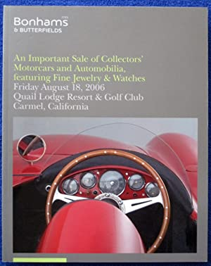 An Important Sale of Collectors Motorcars, and: Bonhams & Butterfields.