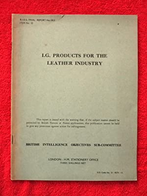 BIOS Final Report No. 1813. I.G. Products: British Intelligence Objectives
