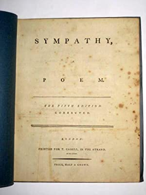 Sympathy, a Poem.: Anon but known to be by Samuel Jackson Pratt.