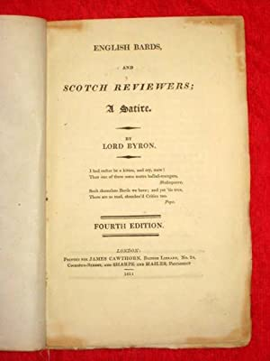 English Bards, and Scotch Reviewers, A Satire: Byron, Lord.