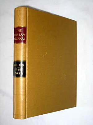 The New Law Journal, Volume 118 pt2. July 1968 to December 1968. Includes The Practitioner - a ...