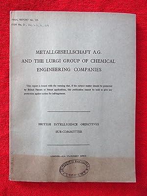 BIOS Final Report No. 335 Item No.: Various, British Intelligence