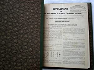 Supplement to the Post Office Electrical Engineers: Post Office Engineering