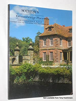 Groombridge Place, Kent. 15 & 16 September 1992. Sotheby's Auction Catalogue.: Sotheby & ...