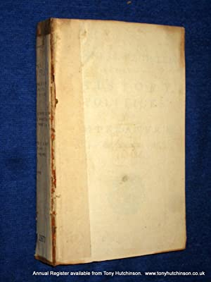 The Annual Register or A View of The History, Politicks And Literature of The Year 1766. (or ...