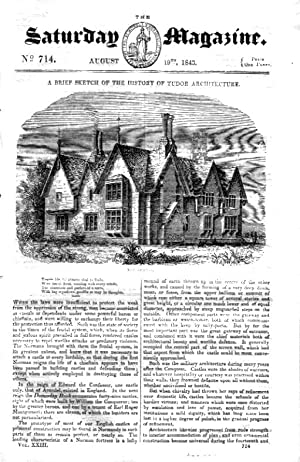 The Saturday Magazine No 714 19th Aug 1843 including Travelling in BRAZIL, + History of TUDOR ...