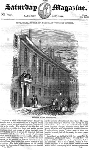 The Saturday Magazine No 740, Jan 1844 including MERCHANT TAYLORS' SCHOOL (Pt 1). + HUGO ...