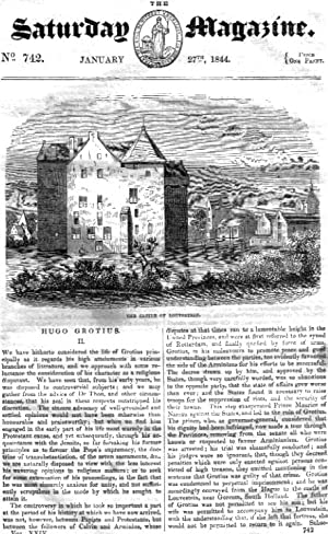 The Saturday Magazine No 742, Jan 1844 including MERCHANT TAYLORS' SCHOOL (Pt 2). + HUGO ...