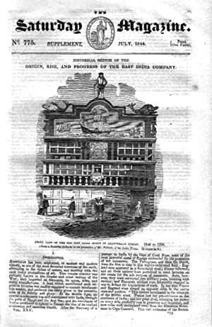 The Saturday Magazine Supplement No 775 July 1844 Containing Origin, Rise, and Progress of The EAST...