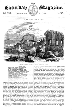 The Saturday Magazine No 783 Sept 1844 including The BAY of BAIAE or Baia (in Bay of Naples Italy )...