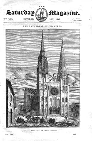 The Saturday Magazine No 660 October 1842 including the Cathedral of CHARTRES.