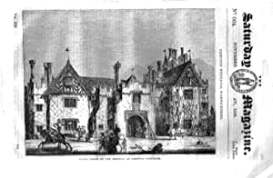 The Saturday Magazine No 664 November 1842 including COMPTON WYNYATES Warwickshire,