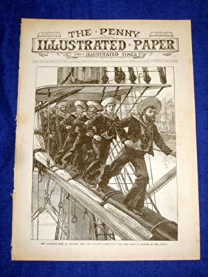 The Penny Illustrated Paper and Illustrated Times. No 1521 of 26 July 1890, Bluejackets Man the ...