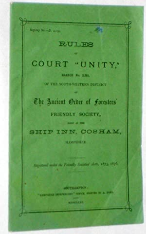 Rules of Court Unity Branch No 2295, of the South Western District of the Ancient Order of ...