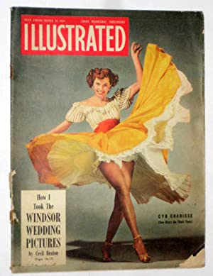 Illustrated Incorporating News Review Magazine. March 1951. Features Cyd Charisse. Cecil Beaton on ...