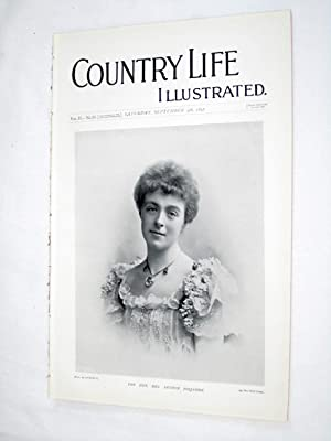 Country Life. No. 35. 4th September 1897. The Hon Mrs Arthur Foljambe, Mount Edgcumbe Plymouth, ...