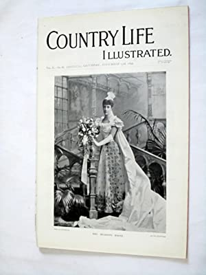 Country Life. No. 45. 13th November 1897. Mrs Meadows White, Bishop's Palace, Wells. ...
