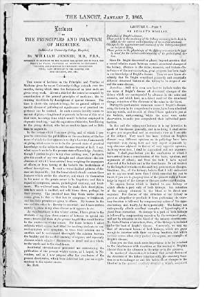 The Lancet. 7 Jan 1865. PRINCIPLE & PRACTICE of MEDICINE - BRIGHT'S DISEASE, TREATMENT of ...