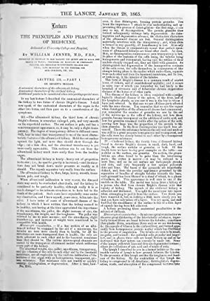 The Lancet. 21 Jan 1865. PRINCIPLE & PRACTICE of MEDICINE - BRIGHT'S DISEASE., SCRIVENERS&...