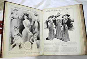 FEMINA No 179 to 190 of 1st Julliet to 18 Decembre 1908 Bound with Covers & Adverts. 12 Issues ...