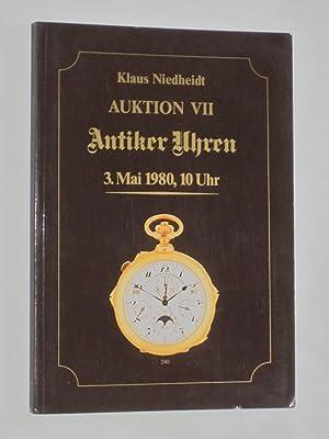 Auktion VII Antiker Uhren 3 Mai 1980,: Niedheidt, Klaus