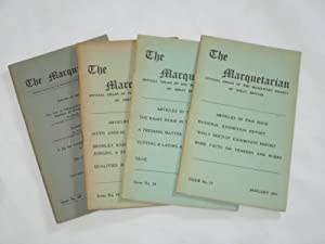The Marquetarian The Official Organ of The Marquetry Society. Issue Nos 17,18,19,20. of 1957.: The ...