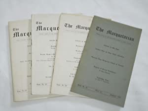 The Marquetarian The Official Organ of The Marquetry Society. Issue Nos 21,22,23,24. of 1958.: The ...