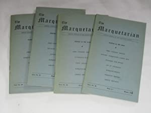 The Marquetarian The Official Organ of The Marquetry Society. Issue Nos 33,34,35,36. of 1961.: The ...