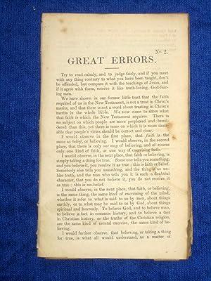 Great Errors. Pamphlet Nos 2,3,4,6,: Barker, J.