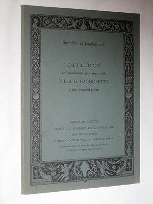 Catalogo dell' Arredamento Proveniente Dalla VILLA IL CAGNOLETTO a Forte dei Marmi (Lucca) : ...