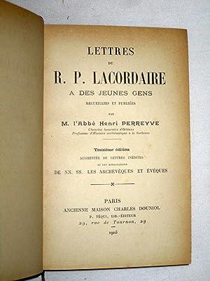 Lettres du R. P. Lacordaire a des Jeunes Gens: Perreyve, Henri
