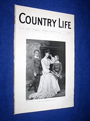 Country Life. No 367. 16th January 1904. Lady De Trafford & Sons, Morval House, Cornwall., The ...