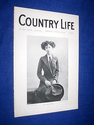Country Life. No 616. 24th October 1908, Miss Maud Coats, Bridge House Weybridge, Residence of Mr ...
