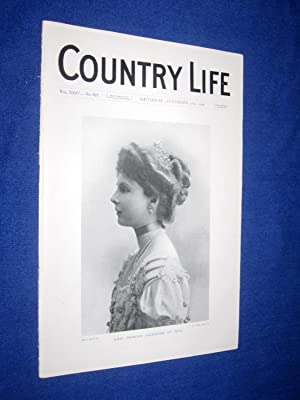 Country Life. No 621. 28th November 1908, H. R. H. Princess Alexander of Teck., Cefn Mably in ...