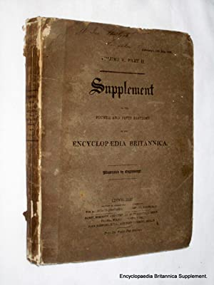 Volume V Part II Supplement to Fourth and Fifth Edition Encyclopaedia Britannica, 18th May 1822: ...