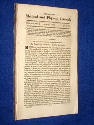 The London Medical and Physical Journal, 1819, August. Transferred Irritation, Tetanus Cures, ...