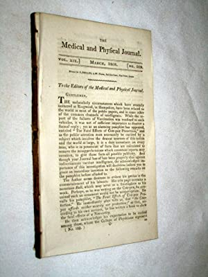 The Medical and Physical Journal, 1808, March,: Bradley T., Dr